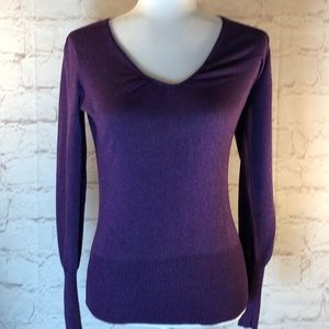 PINK ROSE PURPLE SHIMMER PLEATED TOP